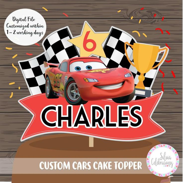 Cars cake topper cars birthday party cars party deco