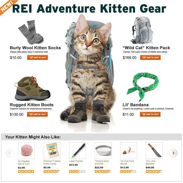 Adventure Kitten Gear. April Fool's 2014 from REI