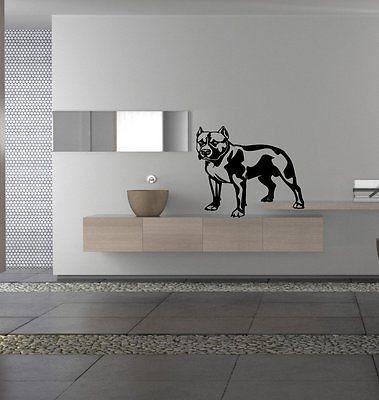 Pitbull Dog Breed Puppy Wall Art Sticker Decal ar202