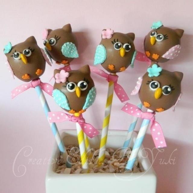 レシピとお料理がひらめくSnapDish - 6件のもぐもぐ - Cakepop owls !! by mya comstock