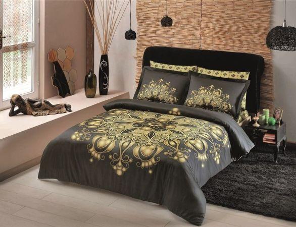Комплект постельного белья TAC «Kastela», зеленый, королевский размер, диджитал сатин по доступной цене в Беларуси.