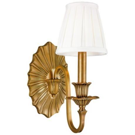 "Hudson Valley Empire Aged Brass 12 3/4"" High Wall Sconce - #U3034 | LampsPlus.com  364"