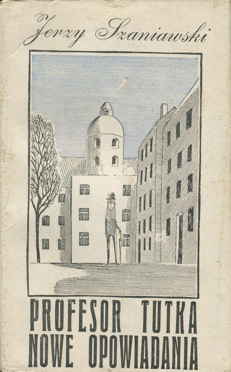 PROFESOR TUTKA. NOWE OPOWIADANIA, Kraków 1962, book cover by Daniel Mróz.