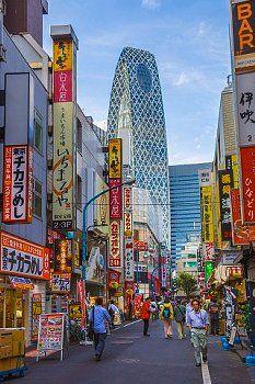 Japan , Tokyo City, Shinjuku District , electric town, Cocoon Tower Bldg.