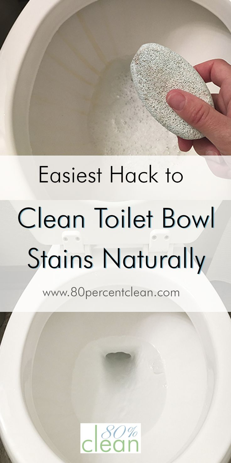 Have annoying toilet bowl stains you can't get rid of? Don't want to use harsh chemicals? Try this easy hack to get rid of toilet bowl stains naturally.