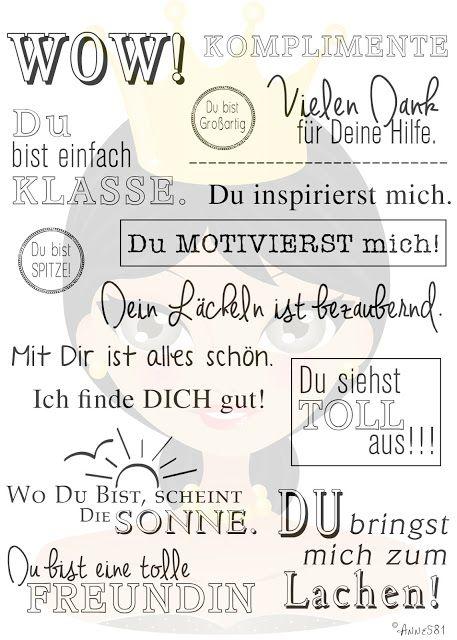 Deutsche Textstempel für Kartengestaltung und Scrapbooking