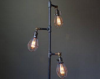 Edison Bulb Floor Lamp Industrial Furniture by newwineoldbottles