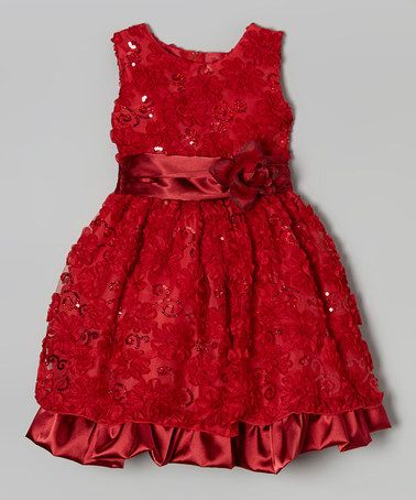 Look what I found on #zulily! Red Floral Ruffle Dress - Infant, Toddler & Girls by Kid Fashion #zulilyfinds