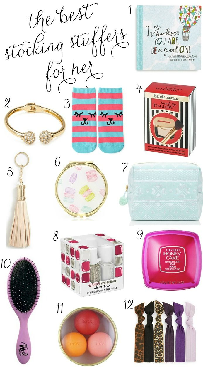 Over 50 of the BEST stocking stuffer ideas for the women in your life!