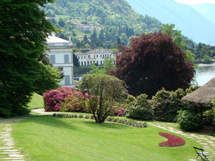 Villa Melzi, engelsk trädgård vid Comosjön i norra Italien.