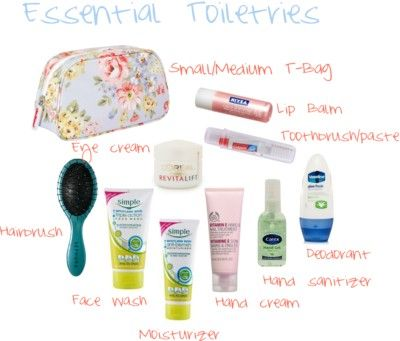 Essential toiletries for long-haul flights - Check out this week's travel series at www.fashionpas.wordpress.com