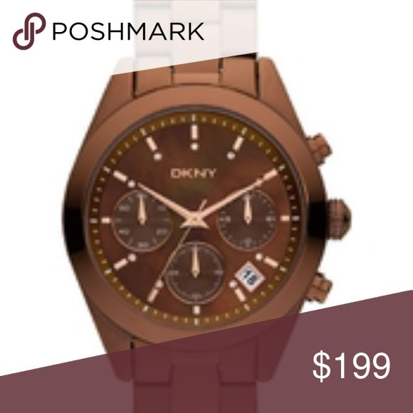 DKNY Women's Brown Stainless-Steel DKNY Women's Brown Stainless-Steel Watch New DKNY Accessories Watches