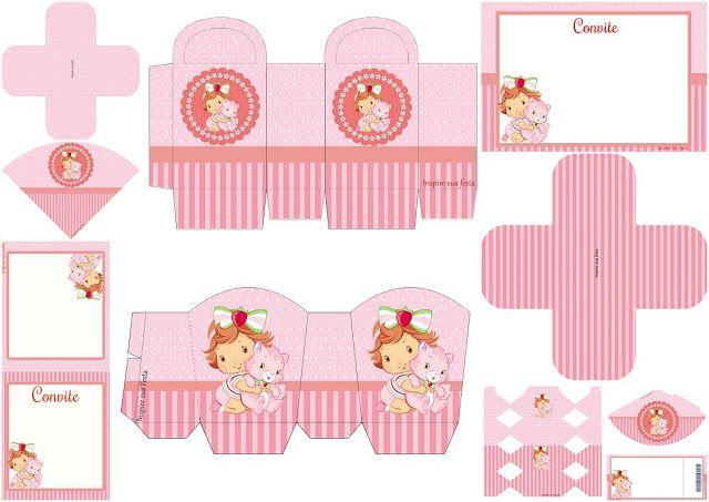 Fiesta de Strawberry Shortcake Bebé: Invitaciones, Cajas e Imprimibles  para Imprimir Gratis.