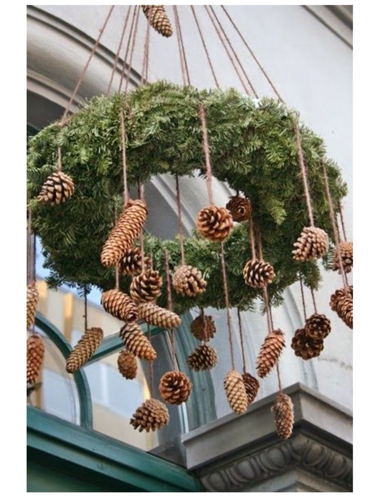 Woodland Christmas: Like the use of rough twine to hang the wreaths