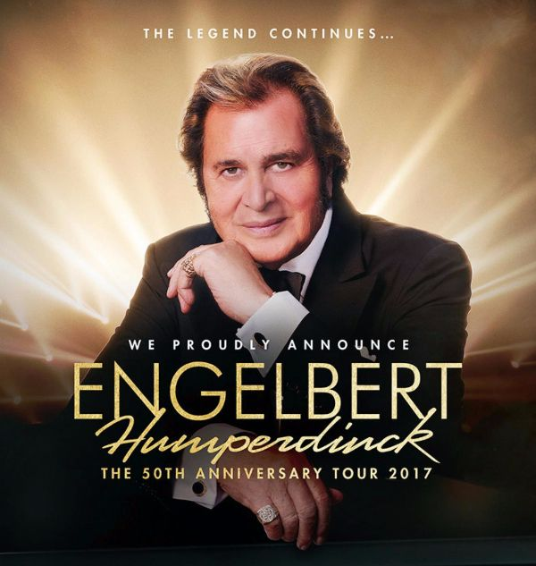 Engelbert Humperdinck's 50th Anniversary Tour Kicks Off on January 12th - http://www.okgoodrecords.com/blog/2017/01/04/engelbert-humperdincks-50th-anniversary-tour-kicks-off-on-january-12th/ - International music legend Engelbert Humperdinck kicks off his 50th Anniversary Tour 2017 next week on Thursday, January 12th in Melbourne, Florida. This tour is a celebration of the legendary singer and performer's extraordinary career and marks 50 years since the singer release.