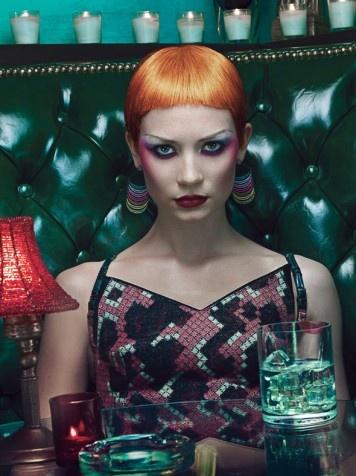 Mia Wasikowska covers at W magazine 40th Anniv.