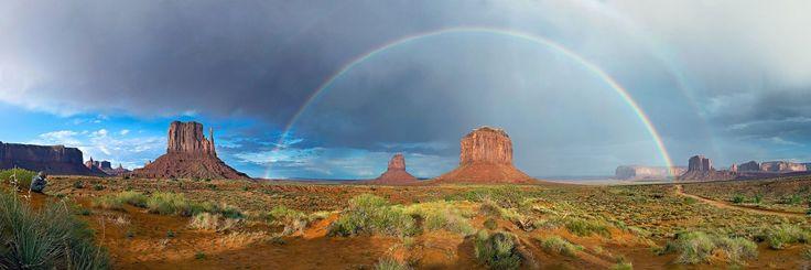Двойная радуга. Долина Монументов. Юта, Аризона. США