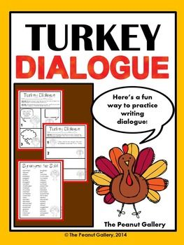 Your students will have fun this Thanksgiving by writing dialogue for these silly turkeys! It's great practice for punctuation and synonyms as well and makes a great holiday center activity! ($)