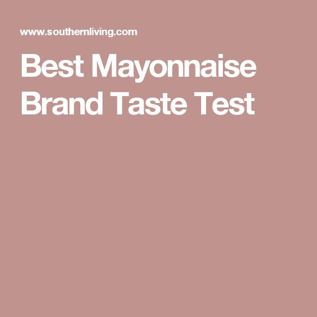 Best Mayonnaise Brand Taste Test