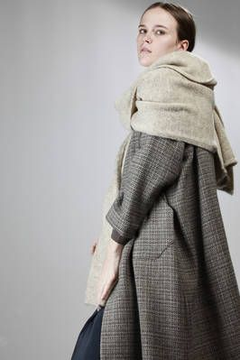 Daniela Gregis | large knitted wool scarf, brushed wool on one side and plain knit on the other | #danielagregis