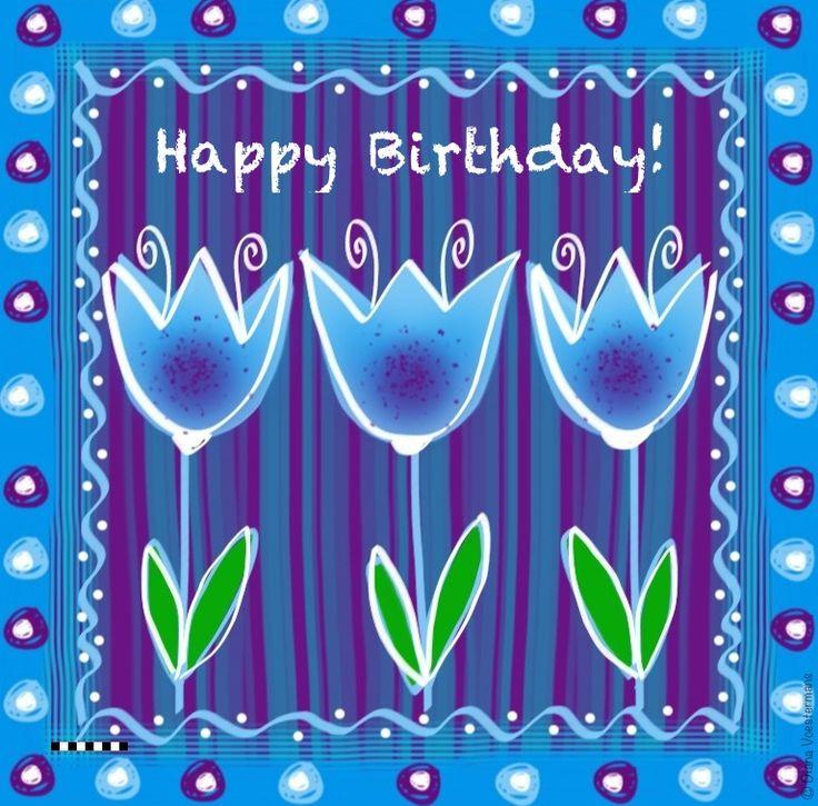 Happy Birthday - by Adriana Art  - www.kaartje2go.nl
