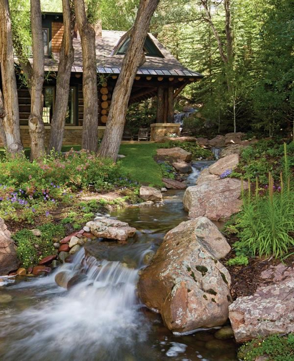 So serene.....the back of the mountain dreams log home.