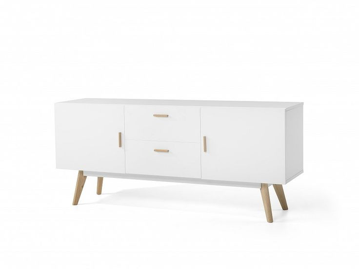 If you love watching TV and admire Scandinavian design, this sideboard with wooden legs will look great in white modern interiors with wooden furniture. Check Beliani UK for more design inspirations www.beliani.co.uk! #beliani #moderninteriorsdesign #livingroomideas #sideboard #commode #scandinavianinteriors
