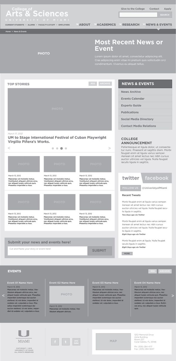 WIREFRAMES by Chris Decatur, via Behance