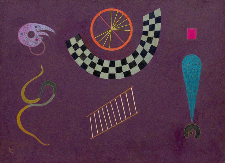 Wassily Kandinsky - Ribbon with Squares, 1944