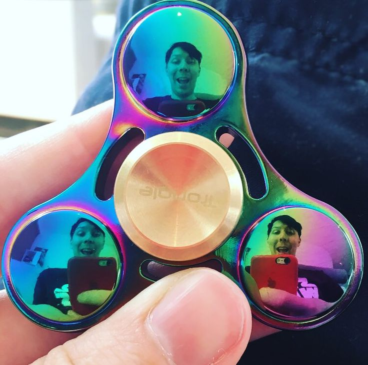I bought Dan a fidget spinner as a birthday present but I may have accidentally kept it.