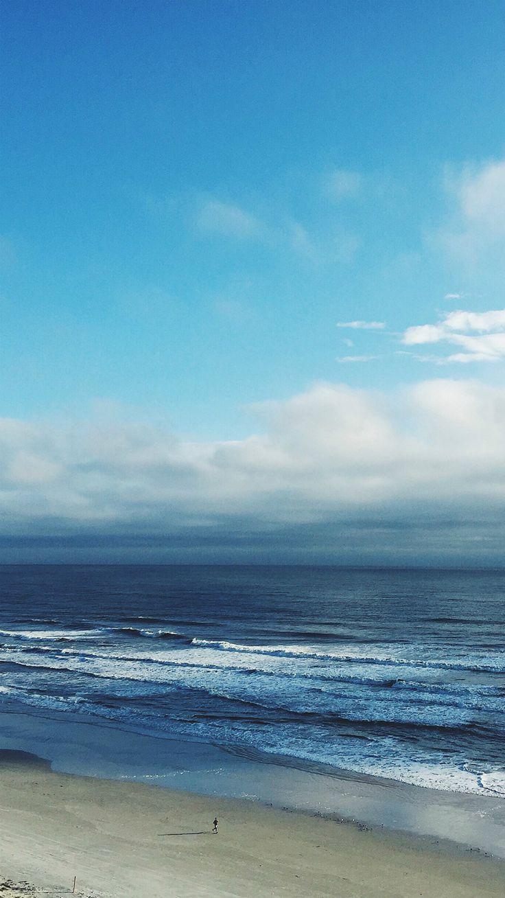 Iphone 5 ocean wallpaper tumblr - Ocean Blue Sky Cloud Nature Iphone 7 Wallpaper