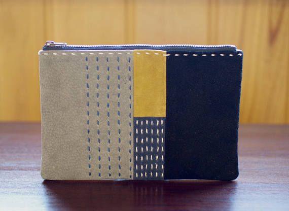 Sashiko pouch, Sashiko purse