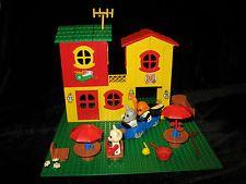 Lego Fabuland - 3672 Hotel / Restaurant und 3627 Blumenauto + Zubehör 80er Jahre