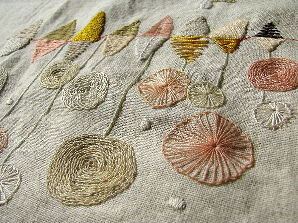 More embroidery inspirations - this will be such a beautiful embellishment on a simple linen dress or jacket