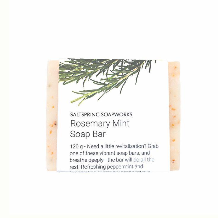 Rosemary Mint Soap Bar from Saltspring Soapworks