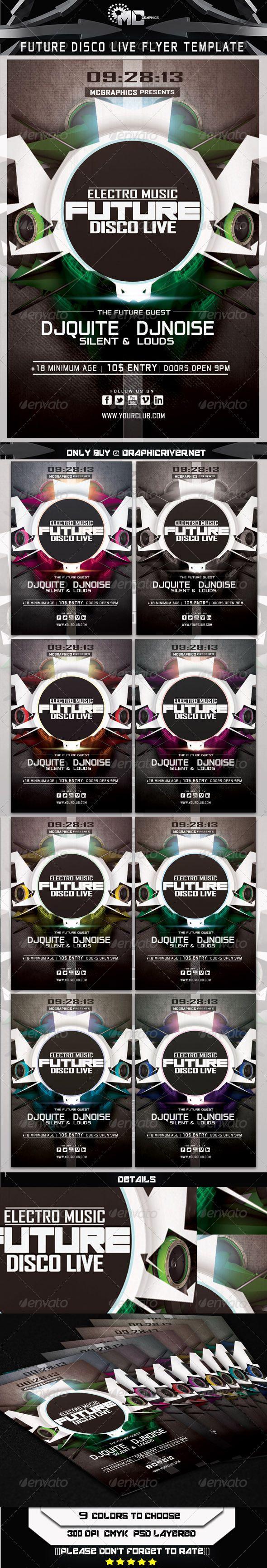 Future Disco Live Flyer Tempate