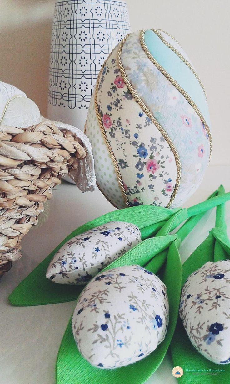 Jajka z materiału #pisanka #crafts #diy #easter #egg #handmade by #brzostula