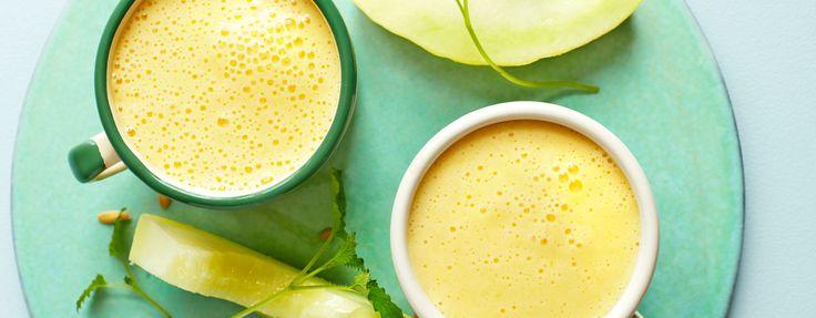 Melon- og mango-shake med yoghurt