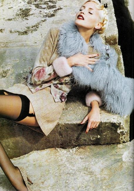 Nadja Auermann by Helmut Newton for the Blumarine advertising campaign, Fall 1994.