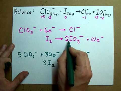 Balance a Redox Reaction (ACIDIC solution)--using the oxidation state method (I prefer the half-cell method)