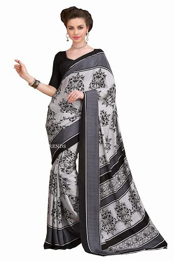 BLACK & WHITE ITALIAN SILK SAREE WITH DIGITAL PRINTED For order just contact: Mail: buy@textilesell.com WhatsApp no: +919898567053 ‪#‎Sari‬ ‪#‎Saree‬ ‪#‎Casual