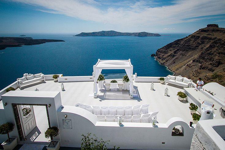 Dana VIllas Santorini wedding venue