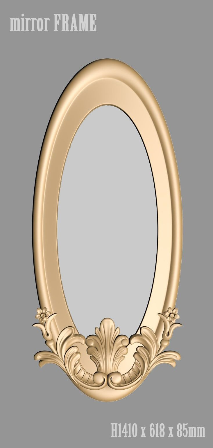 A1075. Mirror FRAME 3d models for cnc | wood work in 2018 ...