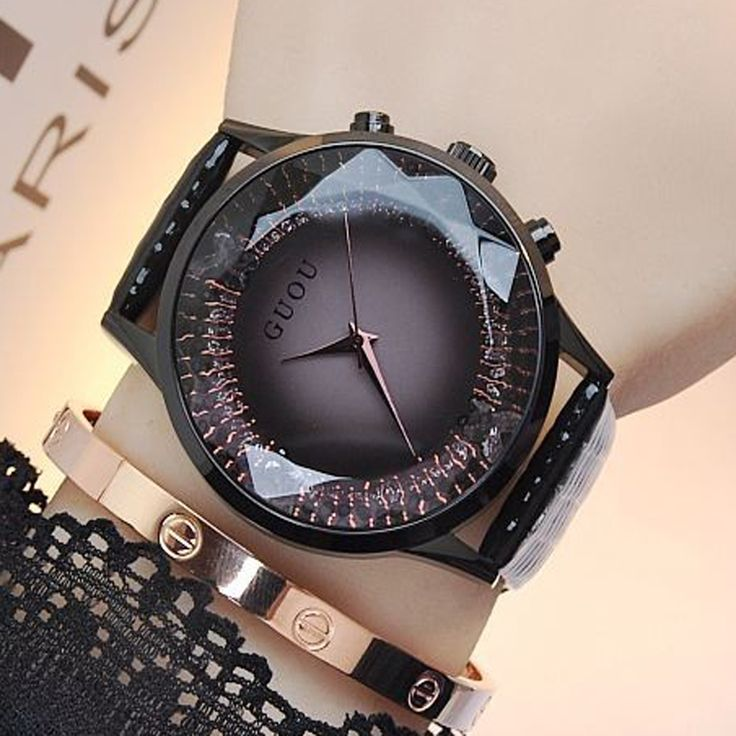 GUOU Women's Watches Top Brand Luxury Ladies Watch Women Bracelet Watches For Women Fashion Diamond Clock montre femme saat