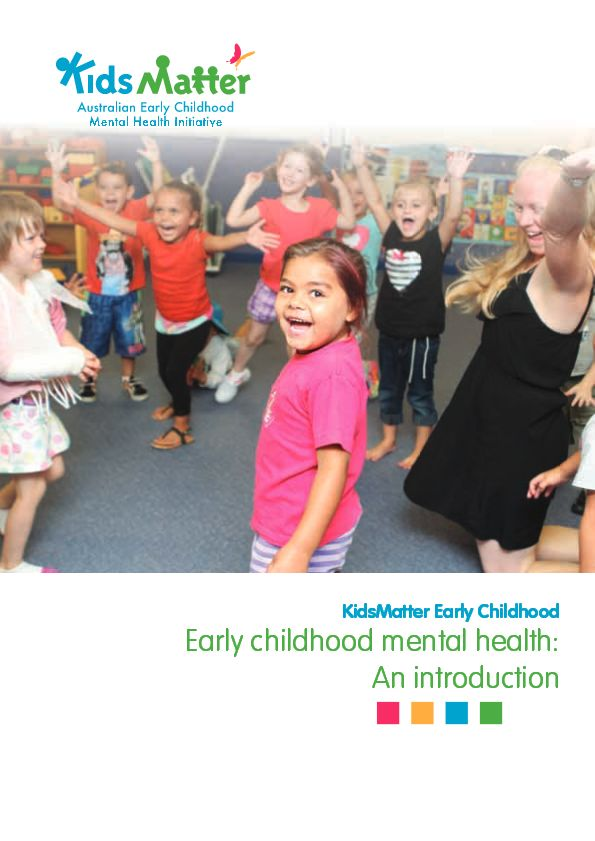 This e-book from Kids Matter aims to provide educators with information about the development of mental health in the early years and an understanding about how to recognise mental health complexities in young children. I believe that all children need to feel safe, secure and supported in their home and educational setting in order to develop positive foundations for mental and emotional health.