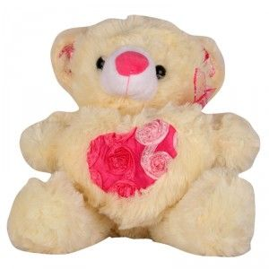 Play N Pets Bear With Heart Small 25 Cms