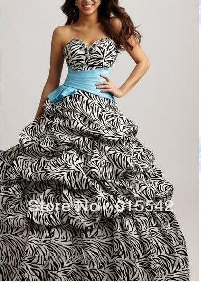 http://dyal.net/zebra-print-wedding-dress Sweetheart Zebra Print Wedding Dress