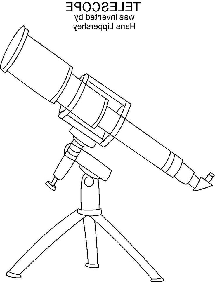 Download Telescope Coloring Page