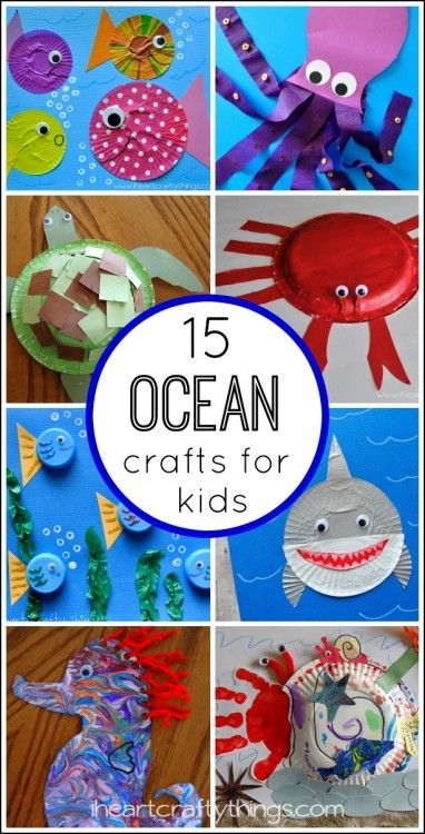 15 Fantastic Ocean Themed Kids Crafts | I Heart Crafty Things
