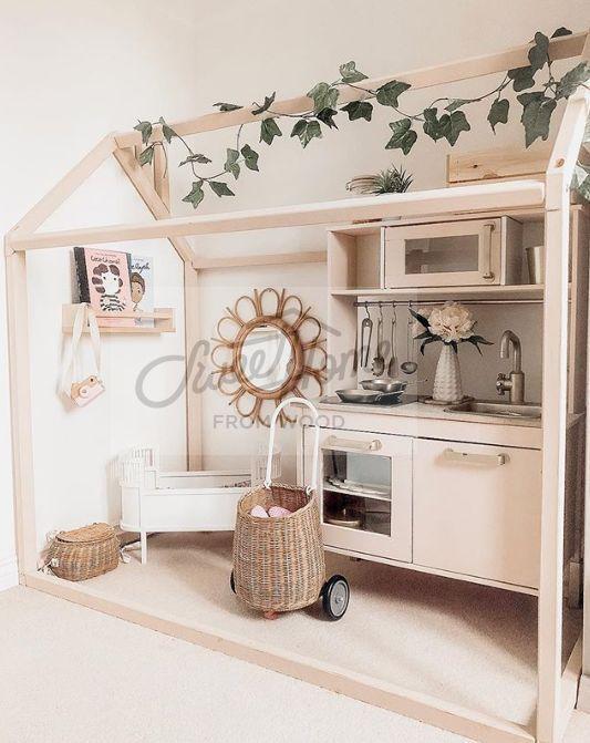 Lit bébé Lit tente Lit bébé Lit en bois Lit de maison Lit bébé Lit Tipi Montessori Furniture  – Holz Spielzeug Ideen